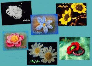 заколки-резинки с цветами
