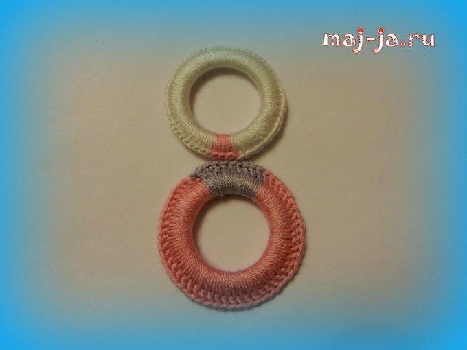Кольца для обвязки крючком своими руками 12