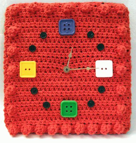 crochet-wall-clock