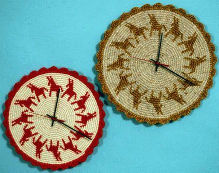 tapestry-crochet-clocks