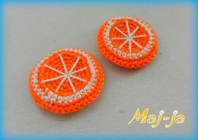вязаные апельсиновые дольки