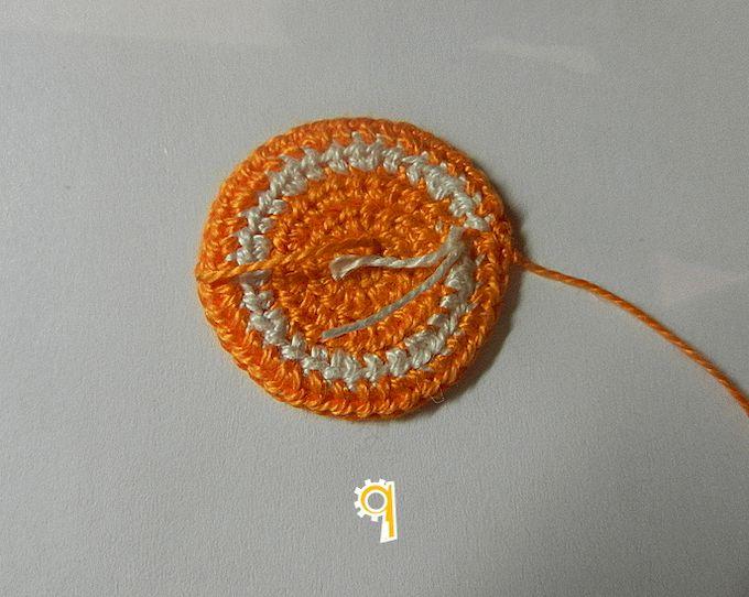вязаная апельсиновая долька