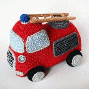 Вязаные игрушки: вязаный транспорт