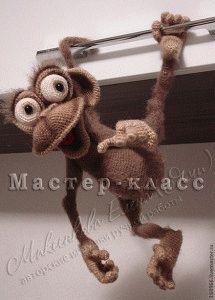Вязаные обезьянки: идеи и мастер-классы.