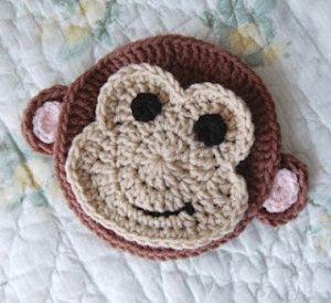 вязаные обезьянки-аппликация.