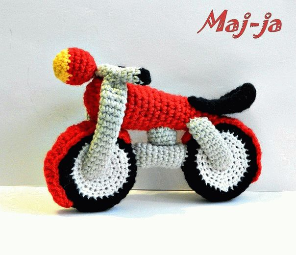 Вязаный мотоцикл- онлайн мастер-класс.