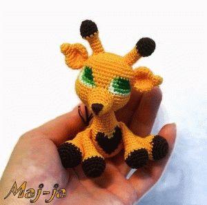 Вязаные игрушки- мастер-класс Вязаный жираф.