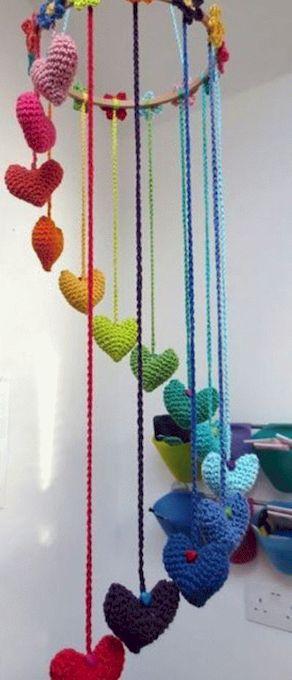Вязаные сердечки-идеи .