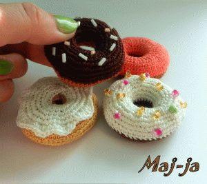 Вязаные пончики. Мастер-класс Вязаные сладости.