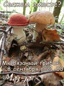 Мастер-класс Вязаный грибочек.