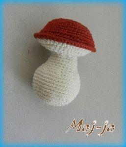 Вязаный гриб, мастер-класс.