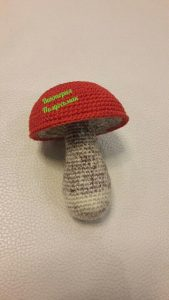 мастер-класс вязаный гриб.