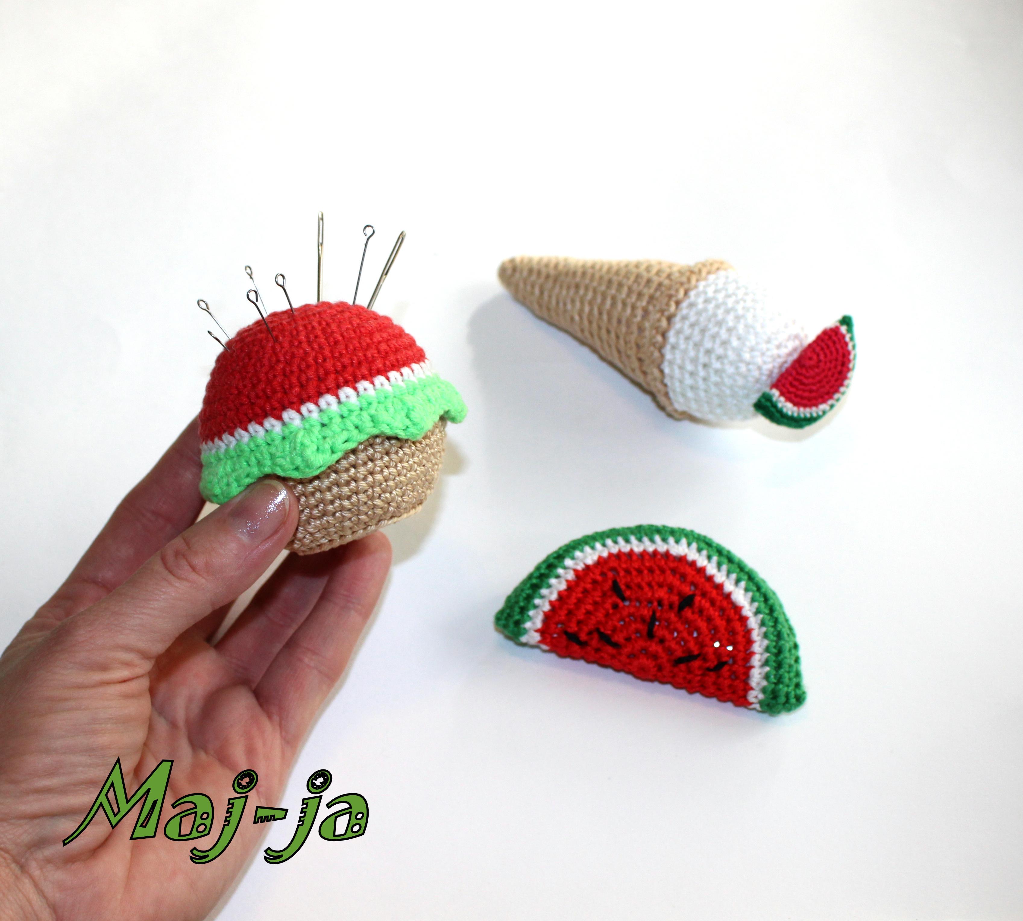 мастер-класс вязаное пирожное.